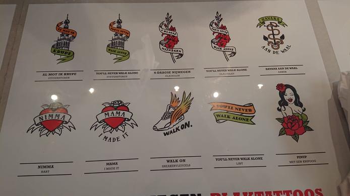 Enkele tatoeges bij de winkel Party Skins