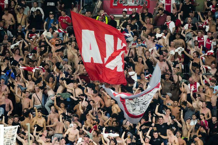 AMSTERDAM, 07-08-2021, JohanCruyff Arena, Dutch Football Preseason 2021 / 2021 JohanCruyff schaal between Ajax and PSV. Ajax fans Beeld Pro Shots / Jasper Ruhe