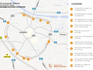Fietspaden en tunnels Grote Ring Hasselt ondergaan vernieuwing