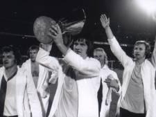 Met Spurs komen in 1974 de hooligans naar Europa: Wim Rijsbergen, Rinus Israël en Lex Schoenmaker over de UEFA Cupfinale