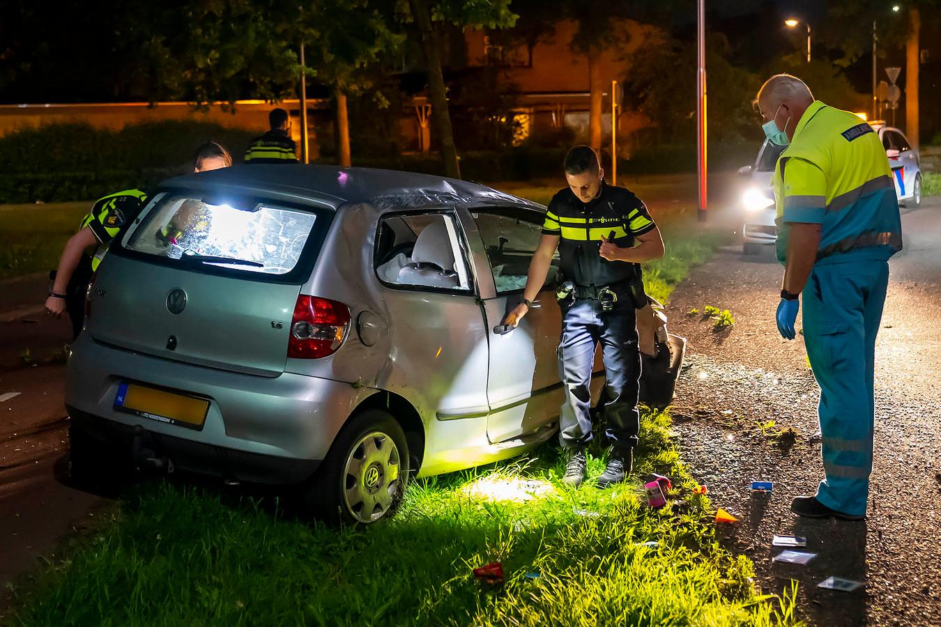 Automobilist gewond bij ongeluk in Oss.