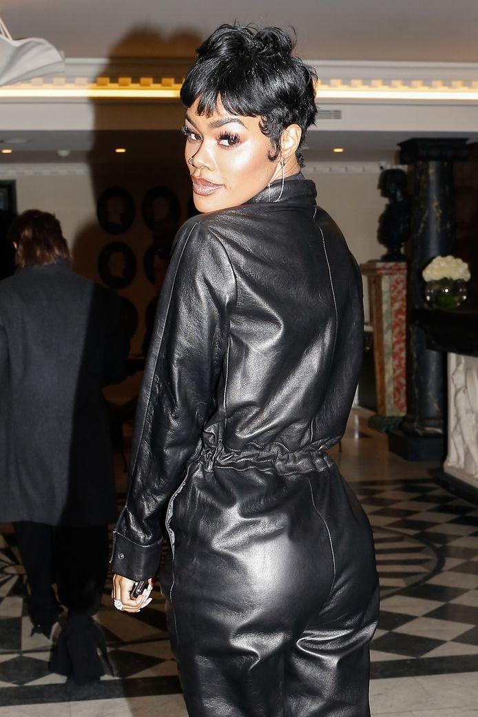 Teyana Taylor bij de Paris Fashion Week 2020