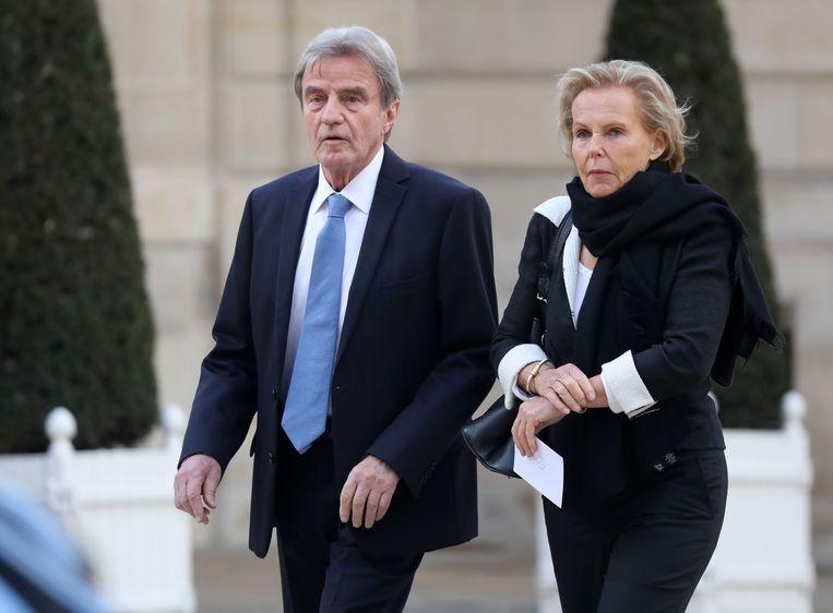 Oud-minister Bernard Kouchner is de vader van de tweeling Victor en Camille. Christine Ockrent is zijn vrouw. Beeld Hollandse Hoogte / AFP