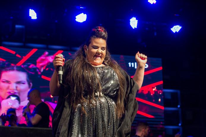 Netta tijdens een optreden in Tel Aviv.