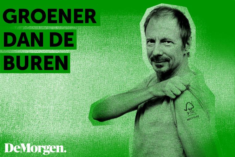 'Groener dan de buren' met Manu Lemeur van uitgeverij Zwartopwit. Beeld De Morgen