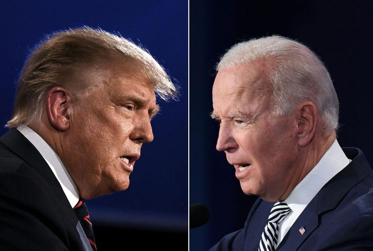 Donald Trump en Joe Biden. Beeld AFP