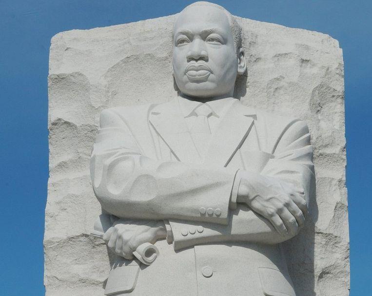 Het Martin Luther King Memorial in Washington. Beeld afp
