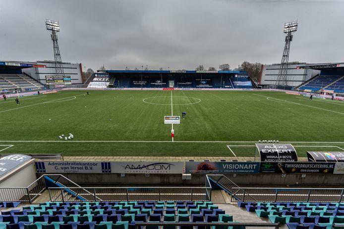Stadion De Vliert van FC Den Bosch. Komt de club in Amerikaanse handen of wordt Wesley Sneijder of een groep van regionale investeerders de nieuwe eigenaar?
