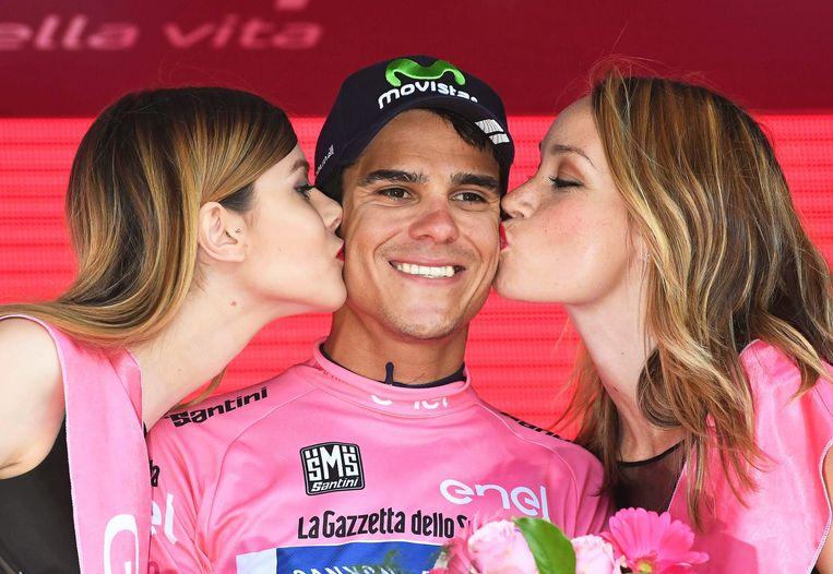 Andrey Amador was de eerste Costa Ricaan in de roze trui in de Ronde van Italië.