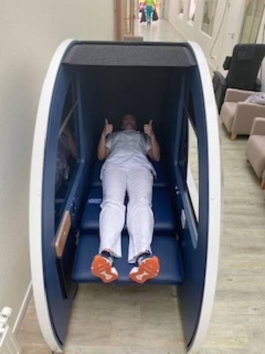 In een 'power nap'-station kunnen verpleegkundigen een kort dutje doen.