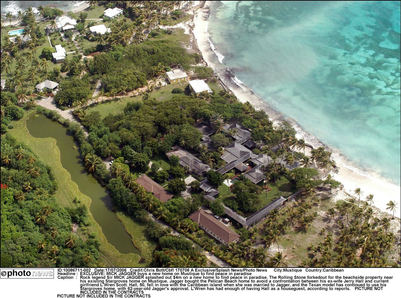 Mick's toevluchtsoord op z'n privé-eiland - 18.000 euro per week