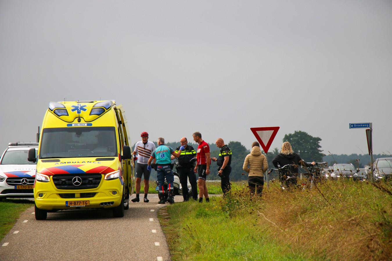 Het ongeluk vond plaats op het fietspad langs de N348 bij Zutphen.