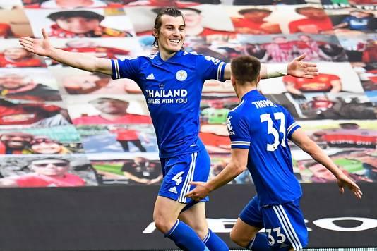 Çağlar Söyüncü juicht na zijn goal.