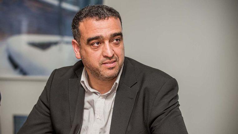 Ondervoorzitter en medebezieler van de Moslimexecutieve Mohamed Achaibi. Beeld belga