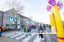 De schoolstraat aan de Vrije Basisschool De Leerheide in Asse-Terheide werd dinsdag voor de eerste keer uitgetest.