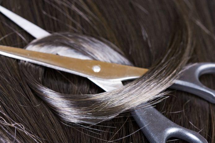 Foto ter illustratie, mijn haar is veel grijzer