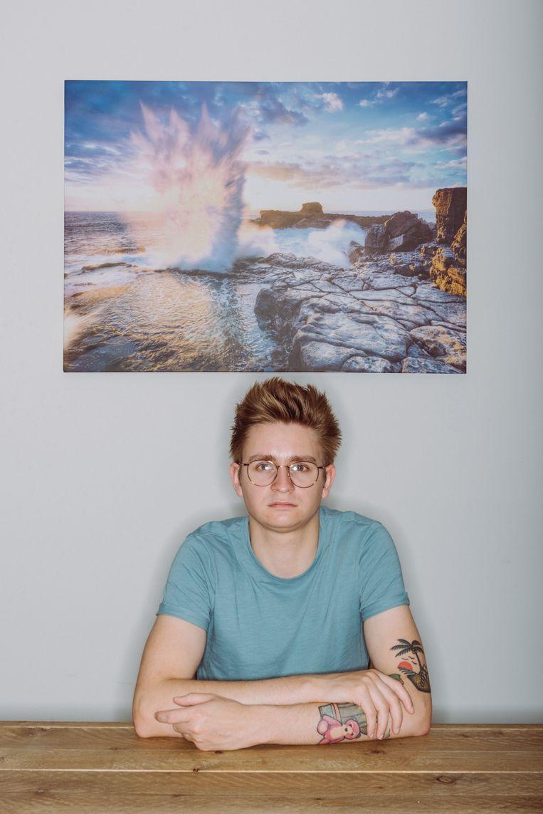 Ingo Buskens (24), master geografie: 'In mijn vakgebied zijn veel beroepen met drones en satellieten. Elk groot bedrijf heeft nu een geograaf  in dienst.'   Beeld Wouter Maeckelberghe