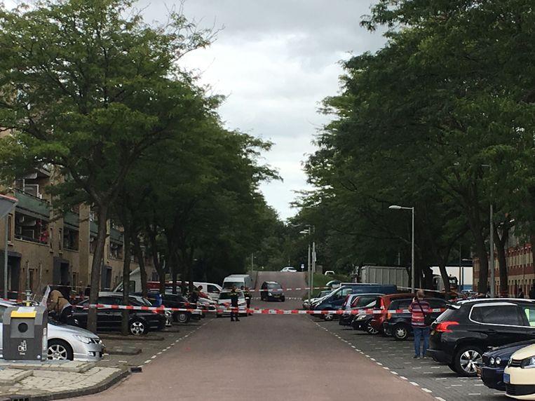 Luchtschoten in Kloekhorststraat. Beeld Paul Vugts