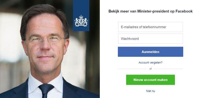 Facebook minister-president