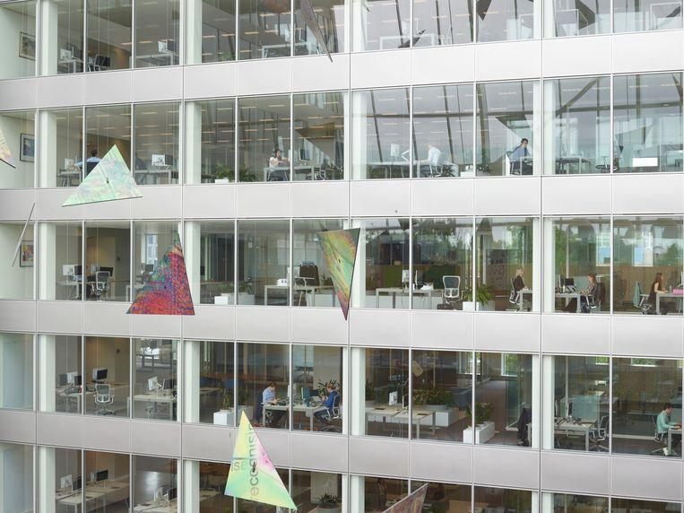 Bij Deloitte bouwden ze het kantoor van de toekomst. Beeld Henk Wildschut