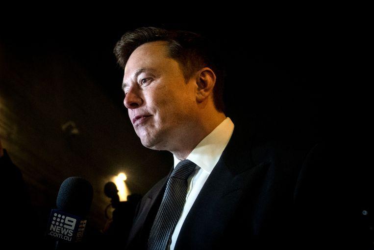Elon Musk na de uitspraak. Beeld EPA
