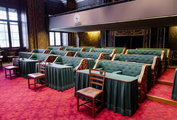 De plenaire zaal van de Eerste Kamer