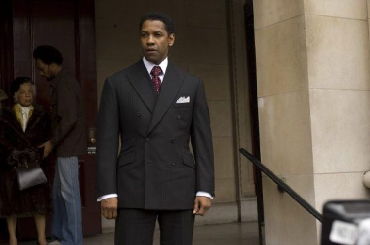 Denzel Washington in American Gangster. Beeld Brunopress