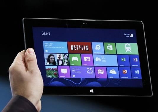 De tablet Surface.