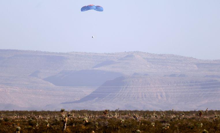 De capsule kon veilig landen. Beeld Getty Images
