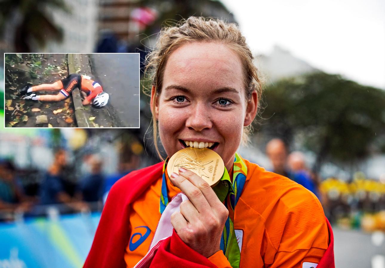 Anna van der Breggen met goud in Rio, inzet: de val van Annemiek van Vleuten.
