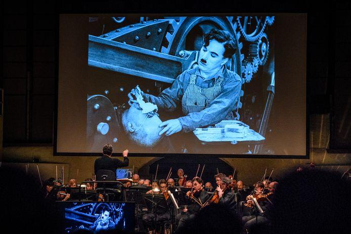 Brussels Philharmonic wekt de stille film 'The Circus' van Charlie Chaplin dit weekend tot leven met livemuziek.
