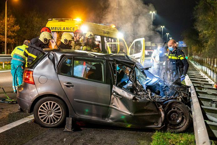 Flinke schade aan de auto.
