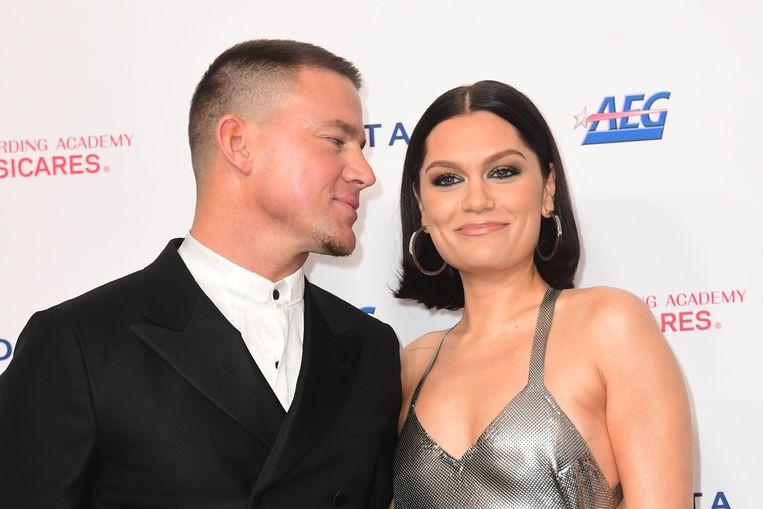 Jessie J en Channing Tatum op de rode loper van het MusiCares Person Of The Year gala