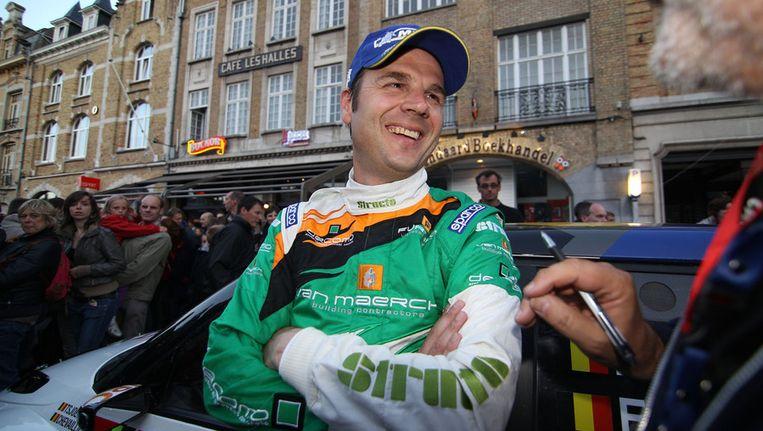 Pieter Tsjoen, hier in de jongste rally van Ieper. Beeld BELGA