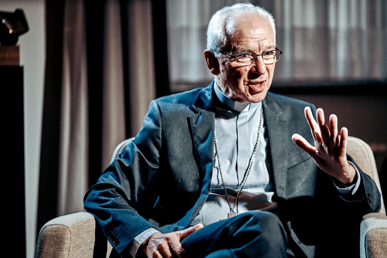 Kardinaal De Kesel: 'Ik ben voorstander van het model in de oosterse katholieke kerk, waar gehuwde mannen wel priester kunnen worden. Dat idee begint in Rome stilaan te rijpen.' Beeld Thomas Sweertvaegher