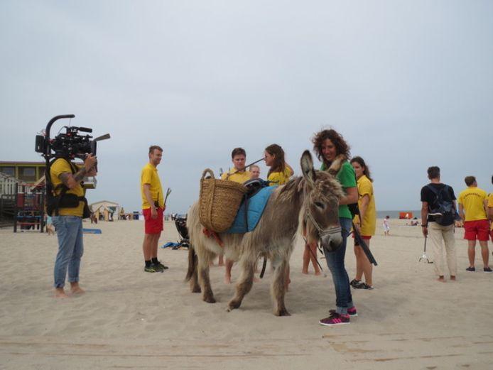 Bianca Plune trok twee jaar geleden de aandacht met haar schoonmaakactie per ezel op het strand. Een cameraploeg van Een Vandaag volgde haar.