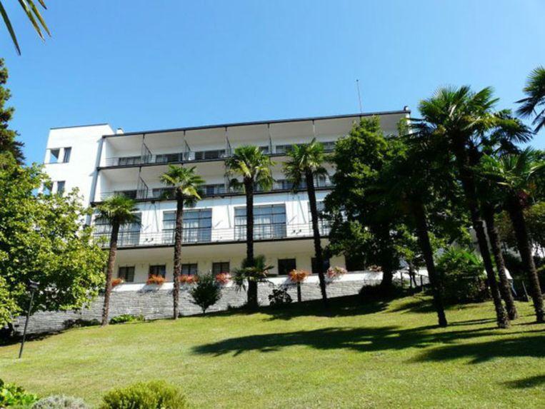 Het museum en conferentiecentrum in Bauhausstijl op de Monte Verità. Beeld UNKNOWN