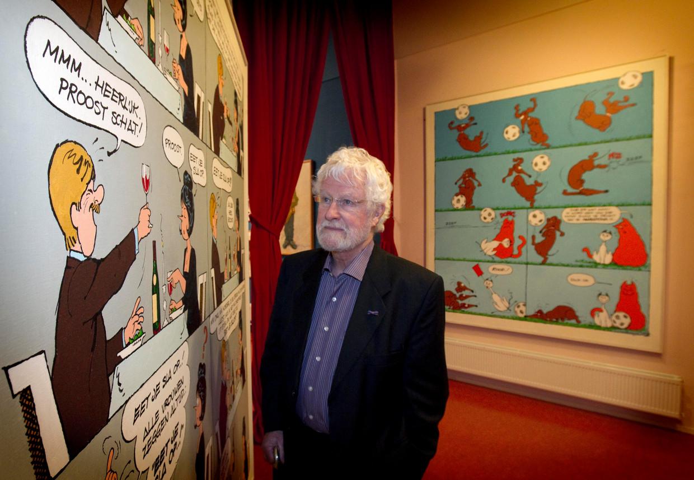 Striptekenaar Jan Kruis in 2010 in het Stripmuseum in Groningen. Kruis kreeg de Marten Toonderprijs uitgereikt. Jan Kruis is inmiddels overleden maar 'Jan, Jans en de kinderen' leeft voort in Libelle.
