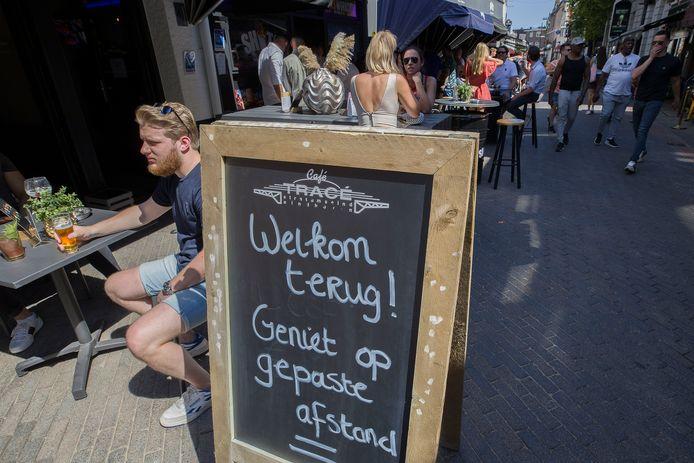 'Welkom terug' op het Stratumseind in Eindhoven.