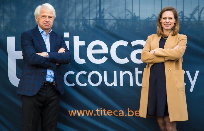 Charlot Depoortere is voortaan kantoordirecteur van Titeca Kortrijk. Guy Depoortere mag zich business leader noemen.