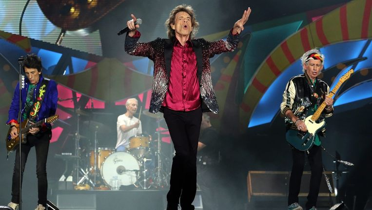 The Rolling Stones op het podium in Havana, Cuba. Beeld epa