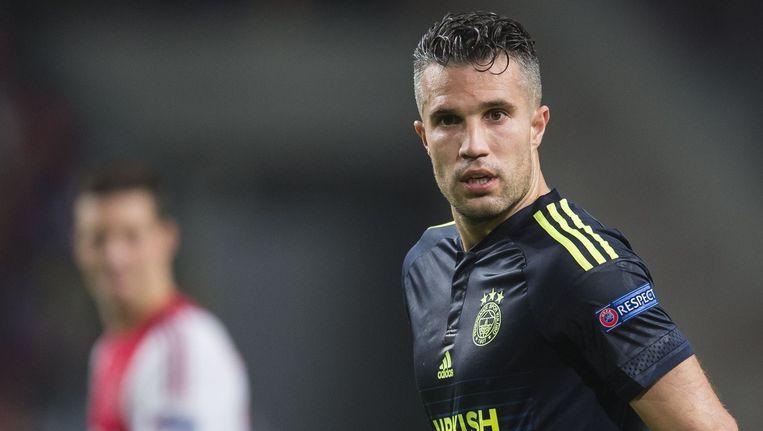 Van Persie donderdagavond, tijdens de wedstrijd tegen Ajax. Beeld photo_news