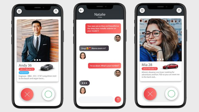 Tesla dating-app