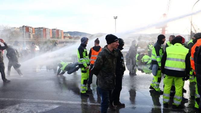 Italiaanse politie grijpt in na protesten tegen coronapas in Triëst