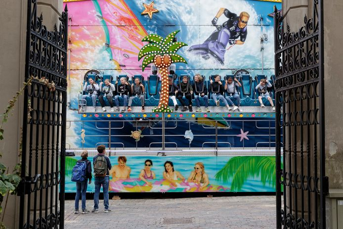 De kermis in de binnenstad van Zutphen, vorig jaar.