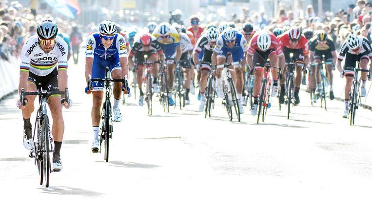 Sagan en Terpstra gaan niet met de winst naar huis. Beeld Klaas Jan van der Weij