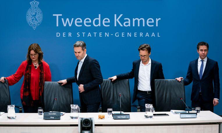 Ronald van Raak neemt deel aan een commissie van de Tweede Kamer die  illegale geldstromen vanuit het buitenland onderzoekt, 10 februari 2020. Beeld Freek van den Bergh/ de Volkskrant