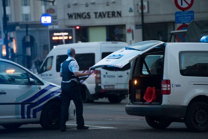 De politie doet volop onderzoek in Brussel. Ook vandaag wordt sporenonderzoek gedaan.