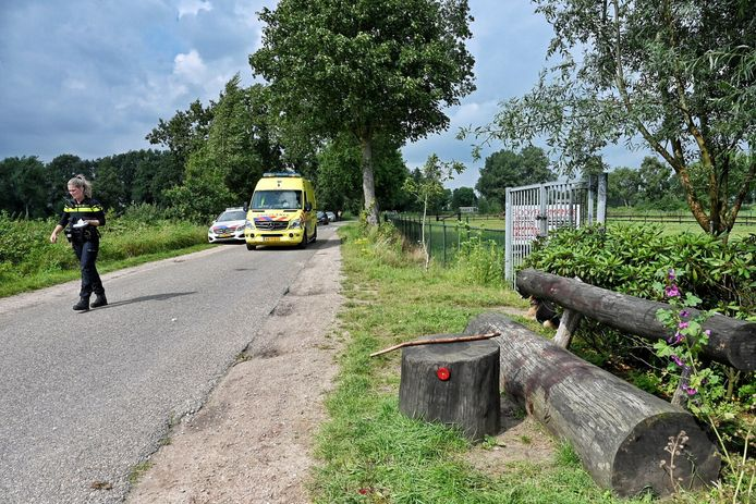 Het slachtoffer werd gevonden bij dit bankje aan de Sparrendreef in het buitengebied van Heukelom.
