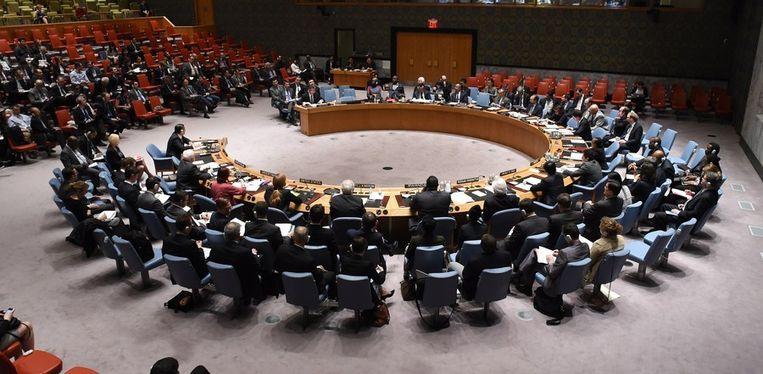De VN-Veiligheidsraad kwam op verzoek van Rusland bijeen in New York. Beeld AFP